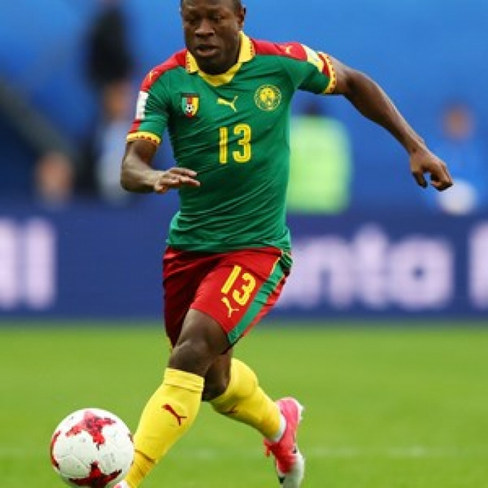 Christian Bassagog of Cameroon in action