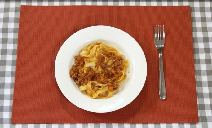 Tagliatelle Bolognese with Maltese sausage