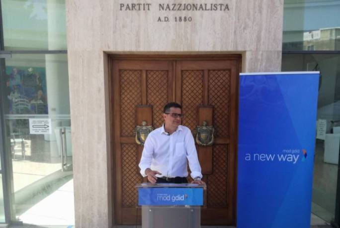 Nationalist Party leadership contender Adrian Delia
