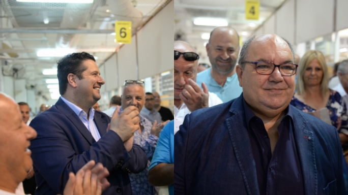 Former Cabinet members Edward Zammit Lewis and Manuel Mallia make it to parliament through casual elections. (Photo: James Bianchi/MediaToday)