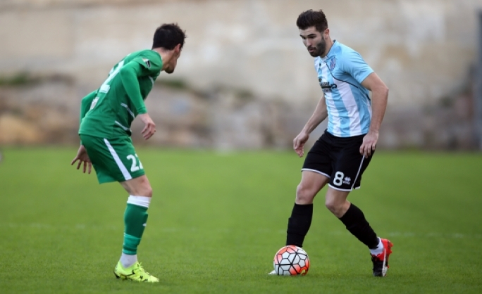 Daniel Ponce De Leon Garcia of Tarxien Rainbows in action during their match against Floriana. Photo: Dominic Borg