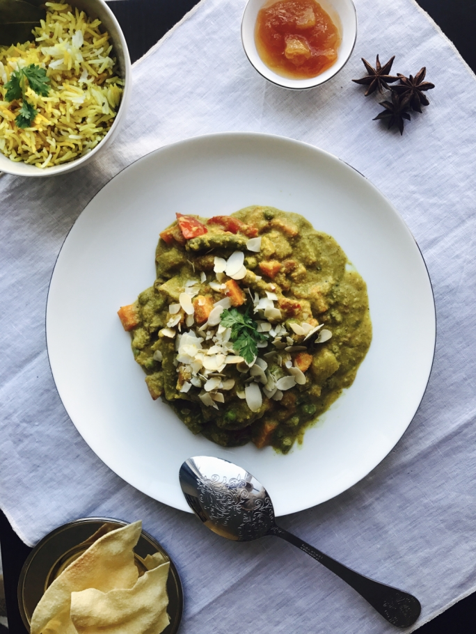Holly Pisani at Peas & Love | Vegan Korma Style Curry
