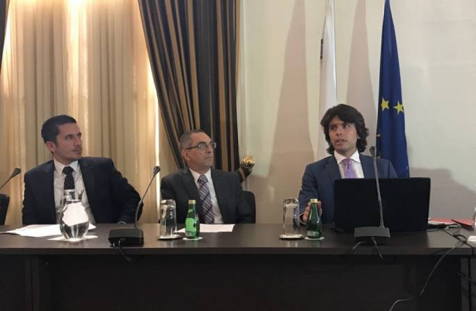 Energy Minister Joe Mizzi and energy agency CEP Daniel Azzopardi (right)