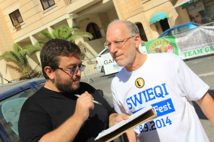 Swieqi Utd president Justin Fenech (left) has warned that fights regularly break out at youth games