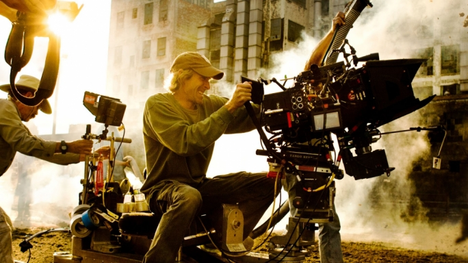 Eye of the storm: Michael Bay on the set of 13 Hours – shot entirely in Malta, and for which Bundalo served as boom operator