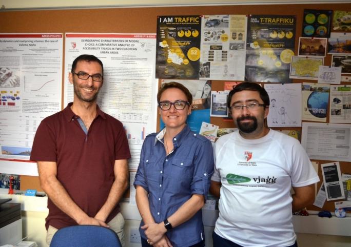 From left: Prof Adrian Muscat, Prof Maria Attard and Michael Camilleri