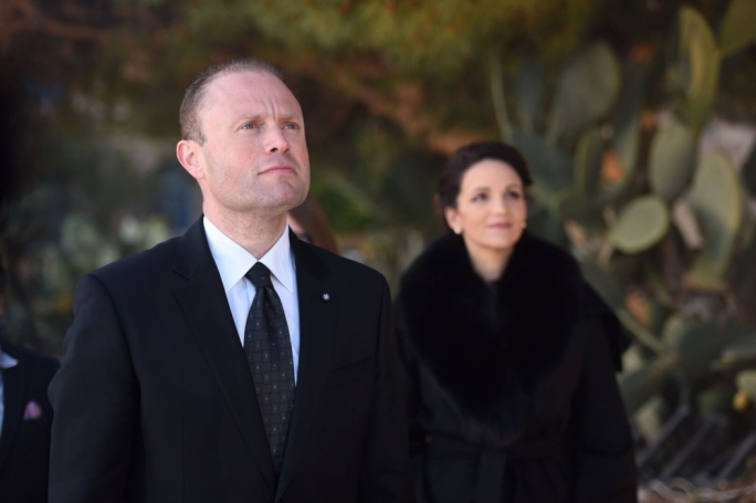 Joseph Muscat has denied that his wife Michelle is the beneficiary of a secret Panamanian offshore company