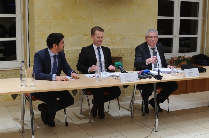 Members of the PANA committee during their visit to Malta last February