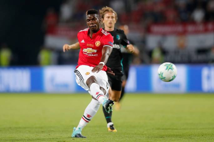 Paul Pogba in action