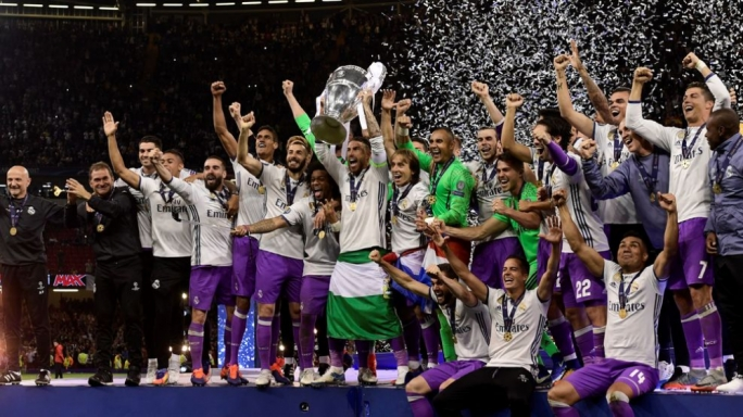 Real Madrid celebrating their success