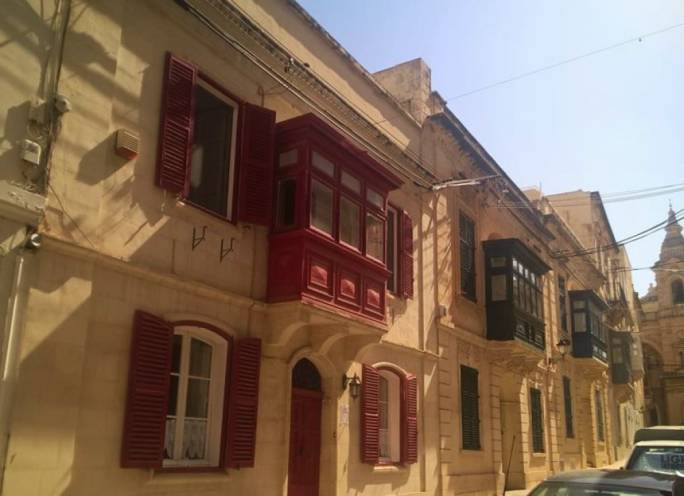 The 19th century townhouse, on Stella Maris Street in Sliema