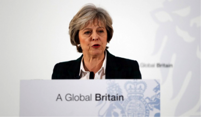 Theresa May pledged the UK is determined to make a decisive break from the European Union, quitting the single market and seek a customs union agreement instead