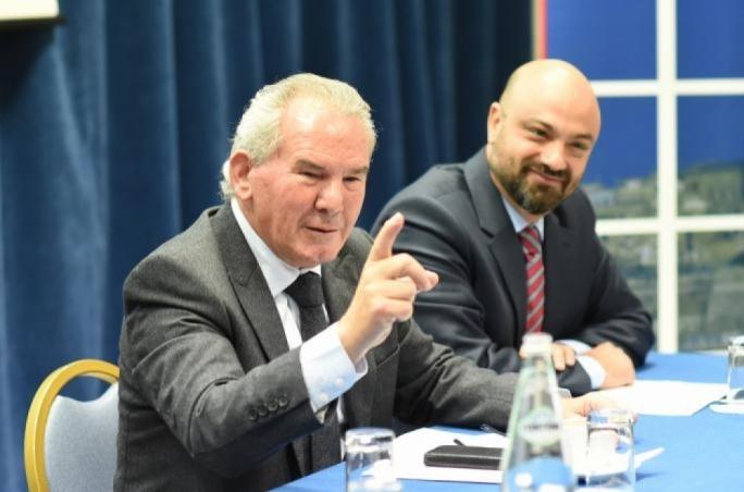 MHRA president Tony Zahra (left) with CEO Andrew Agius Muscat