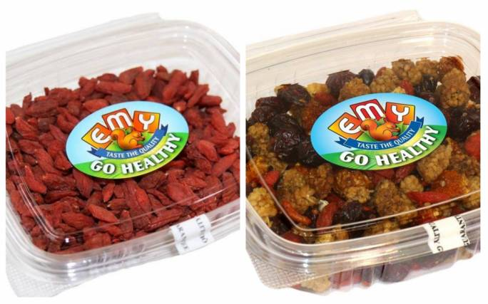 Traces of pesticides found in dried fruit containers