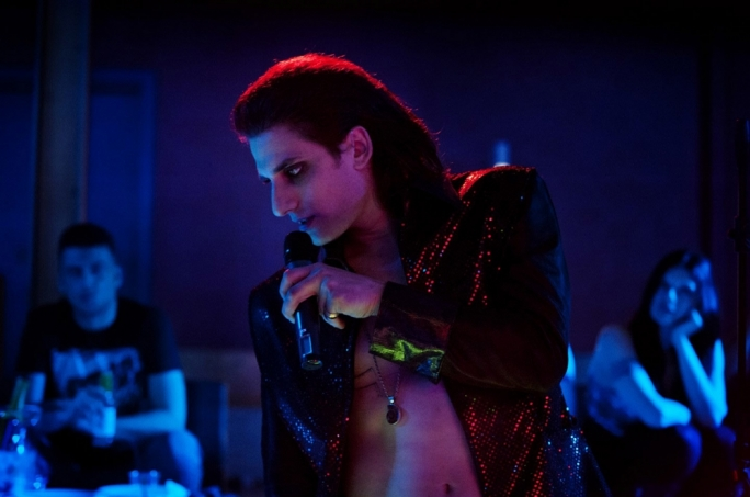 Sing for your supper: Luca Marinelli is wannabe singer/gangster Fabio 'Lo Zingaro' Cannizzaro