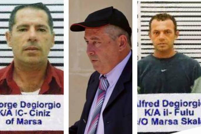 Suspects George Degiorgio 'Ic-Ciniz', Vince Muscat 'il-Kohhu', and Alfred Degiorgio 'il-Fulu'