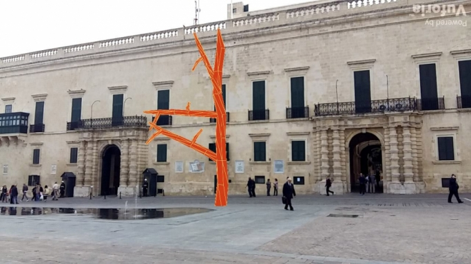 Un/Seen Evergreen reveals a tree structure in St George's Square through a smartphone app
