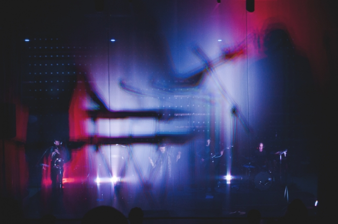Lighting by Late Interactive at a concert by Plato's Dream Machine (Photo: Chris Vella)