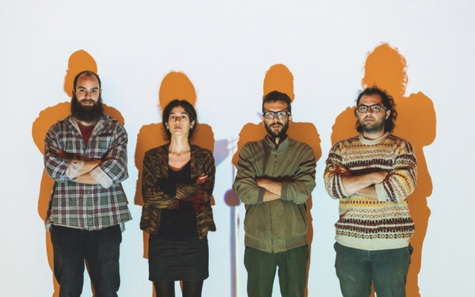 From left: Matthew Pandolfino, Martina Buhagiar, Jimmy Grima and Adrian Abela of rubberbodies collective • Photo by Tumer Gencturk