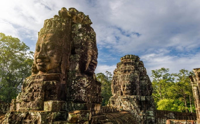Bayon Temple, a richly decorated temple in Siem Reap