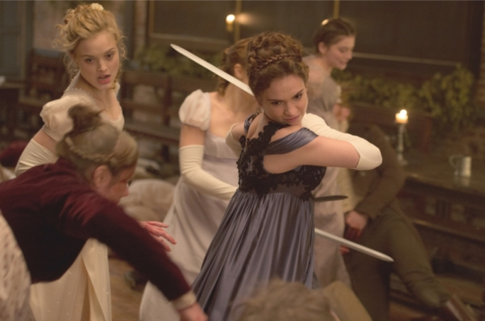 Hack and Slash: Elizabeth Bennet (Lily James) sets to make some zombies even deader in the likewise undead Pride and Prejudice and Zombies