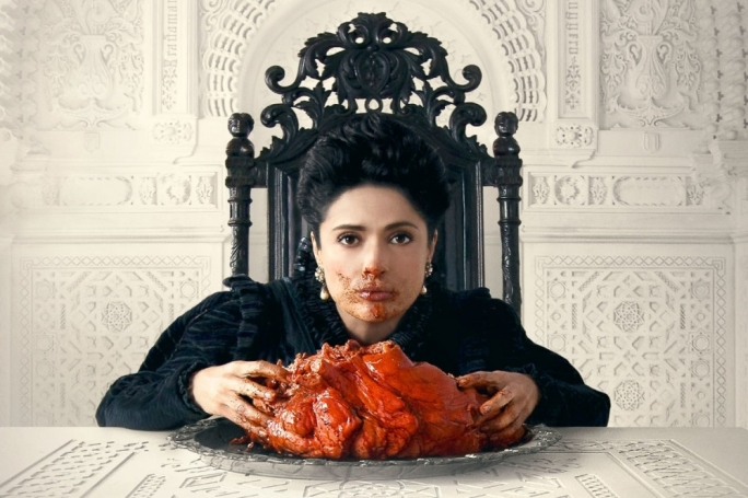 Eat up: Salma Hayek plays a queen driven to extreme dietary choices by circumstance
