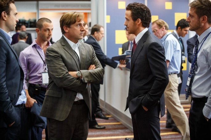 Financial Country for Big Short Men: Steve Carrell's righteous Mark Baum faces the Ryan Gosling as cinema's oiliest dealmaker-slash-narrator