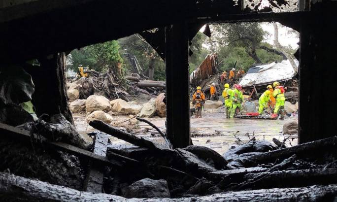 13 dead in Southern California as rain triggers mudslides