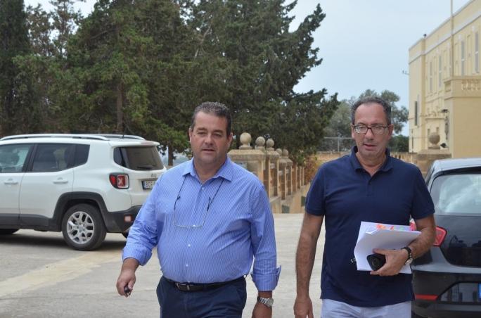 Beppe Fenech Adami (left) and Mario de Marco