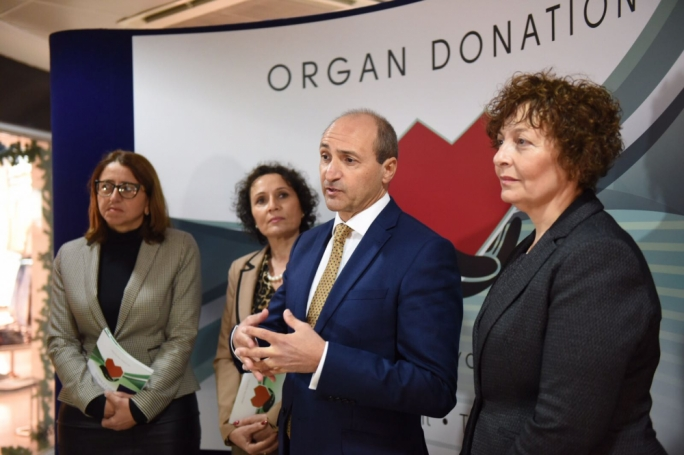 Health minister Chris Fearne pledged to personally register himself as a full organ donor