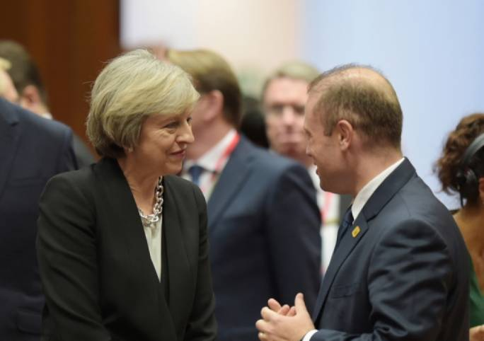 Prime Minister Joseph Muscat says UK prime minister Theresa May is 'well-prepared' for Brexit negotiations