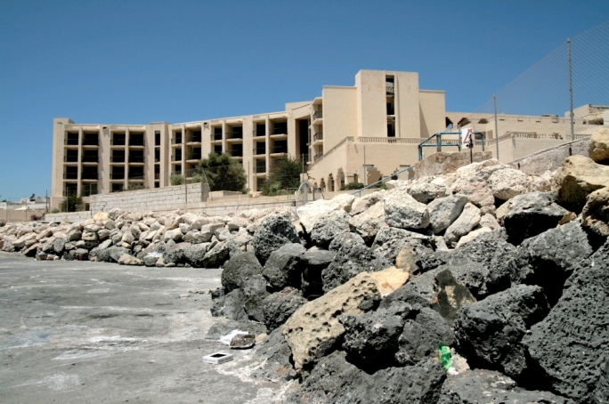 The former Jerma Palace hotel today lies in ruins