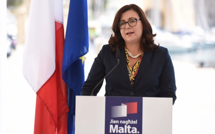 PD leader Marlene Farrugia said that she was proud to stand next to Busuttil. Photo: James Bianchi/MediaToday
