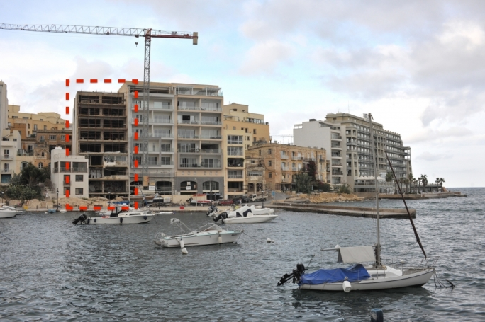 As it stands today: Spinola Bay's public foreshore encroached by private property that the courts said had to restored to their former, pristine condition