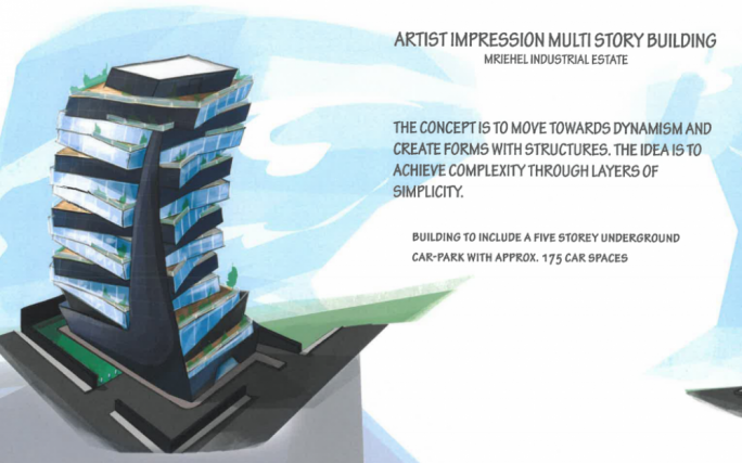 The tower will be used for offices, retail outlets and food and drink establishments.