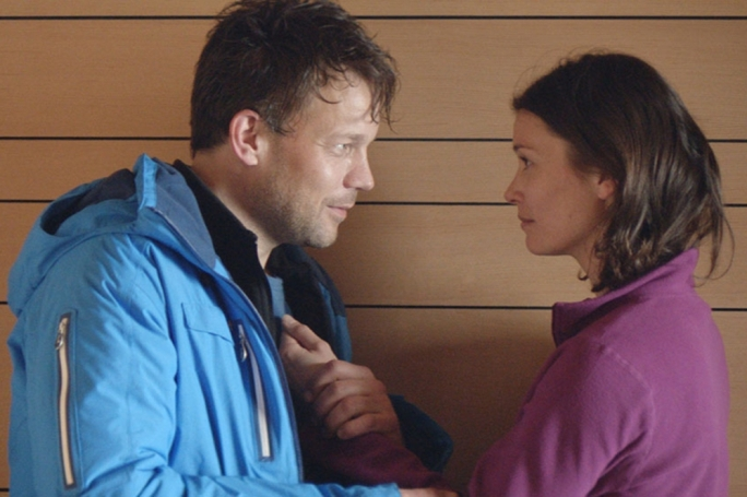 Playing happy families: Johannes Bah Kuhnke and Lisa Loven Kongsli
