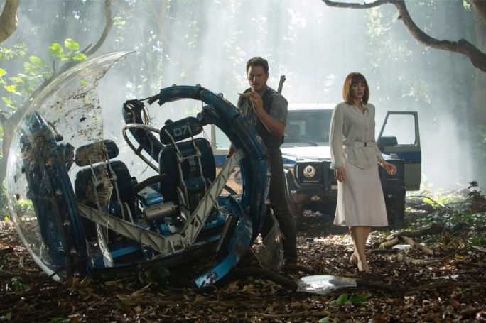 Bone to pick: Chris Pratt and Bryce Dallas Howard in the fourth installment of the Jurassic Park Franchise