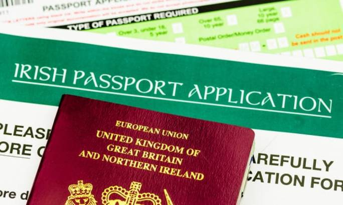 Record number of passports issued in Northern Ireland where everyone has a birth-right to identify as Irish or British