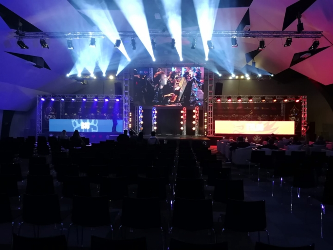 The gaming arena hosting the competition