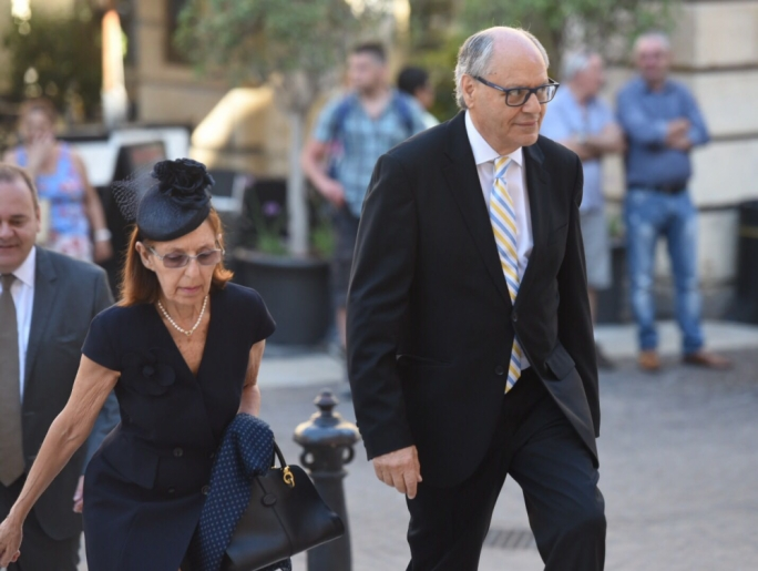 Finance Minister Edward Scicluna and his wife Astrid Bartoli