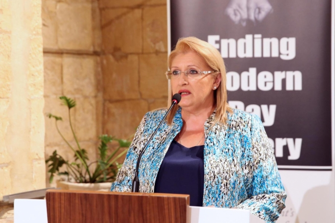 President Marie Louise Coleiro Preca said modern day slavery is not a challenge we can shy away from (DOI/ClodaghFarrugia O'Neill)