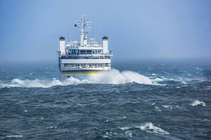 Strong winds force Gozo Channel ferries to take route behind Comino