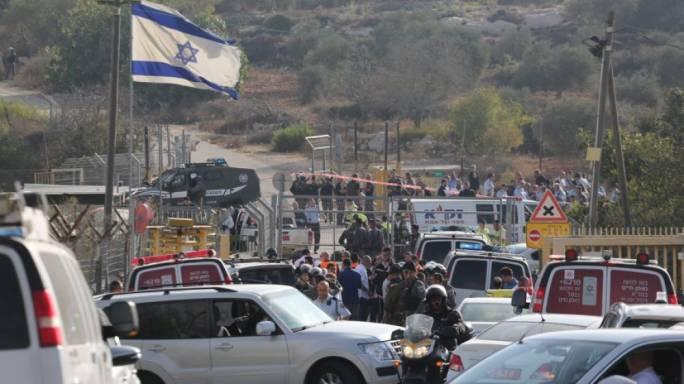 A gunman opened fire in West Bank settlement Har Adar near Jerusalem this morning (Photo: Haaretz/Emil Salman)