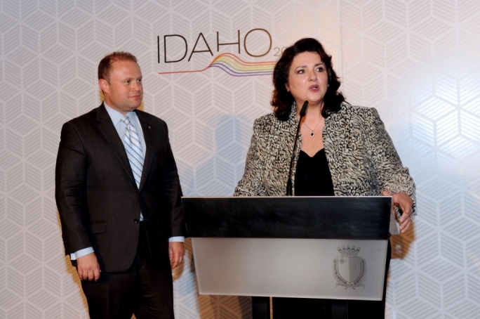 Prime Minister Joseph Muscat and Civil Liberties Minister Helena Dalli