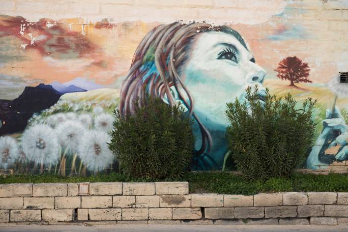 wall mural in Bellavista Road in San Gwann risks being covered by commercial advertising