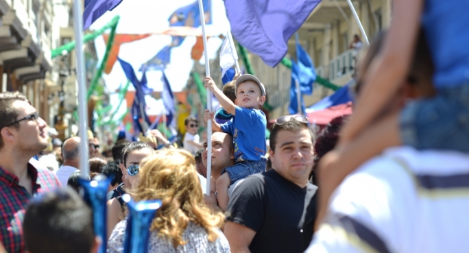 People of all ages celebrate feast of Santa Marija in Mosta. Photo:Ray Attard