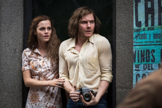 Revolutionary road: Emma Watson and Daniel Bruhl are caught between a rock and a hard place in Pinochet's Chile
