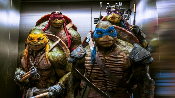 Low on (turtle) power: the mutant foursome do their utmost, but the film's a dud