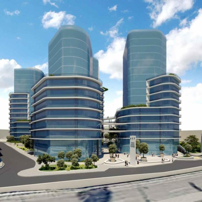 A mock-up of proposed towers in Mriehel by the Gasan and Tumas groups