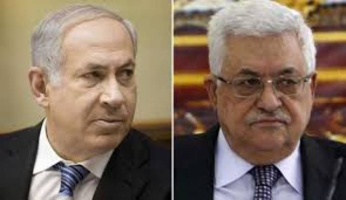 Israeli prime minister Netanyahu (left) and Palestinian leader Mahmoud Abbas